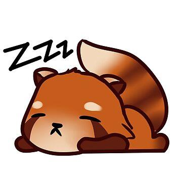 Sleeping Red Panda by Maya-mae