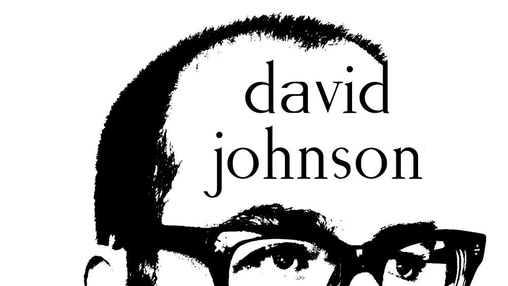 b&w sticker by David Johnson