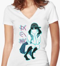 Girl+ [without bandaid] Women's Fitted V-Neck T-Shirt