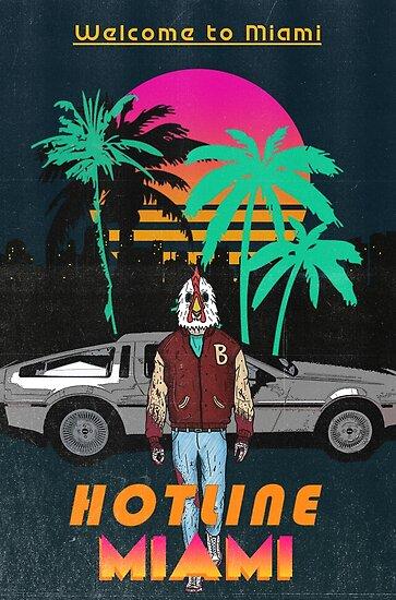 Hotline Miami poster by SnackDubbbz