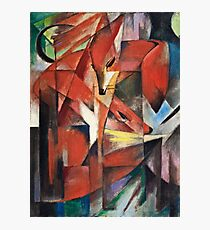 Franz Marc - The Foxes (1913)  Photographic Print