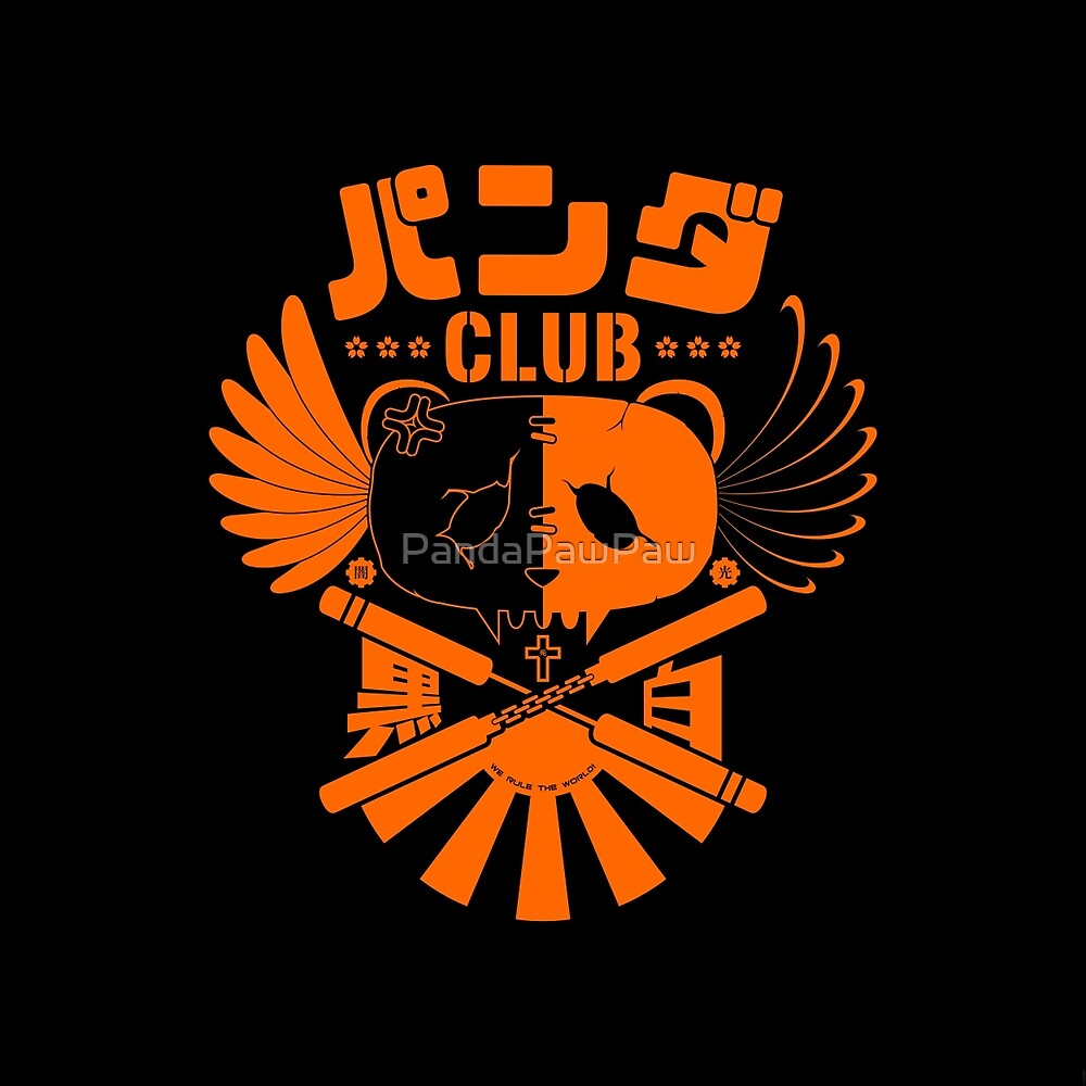 Panda Club Logo Design (Orange) by PandaPawPaw