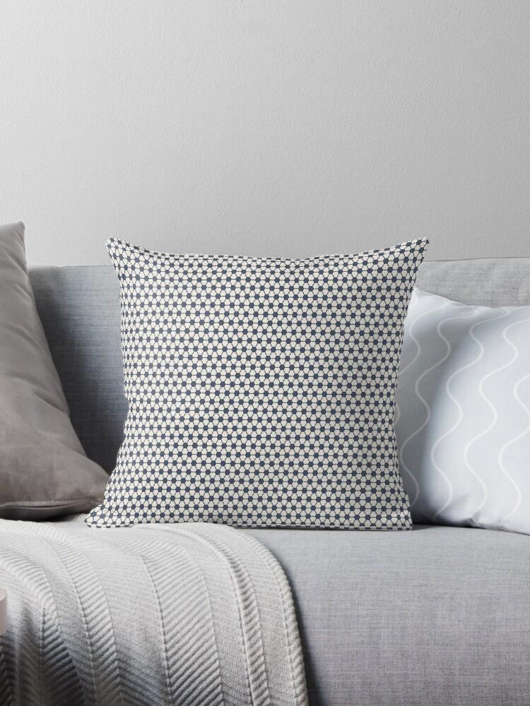 Blue geometric pattern by Lukovka