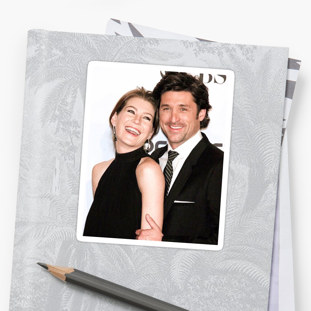 Ellen Pompeo and Patrick Dempsey by Julia Koscelnik