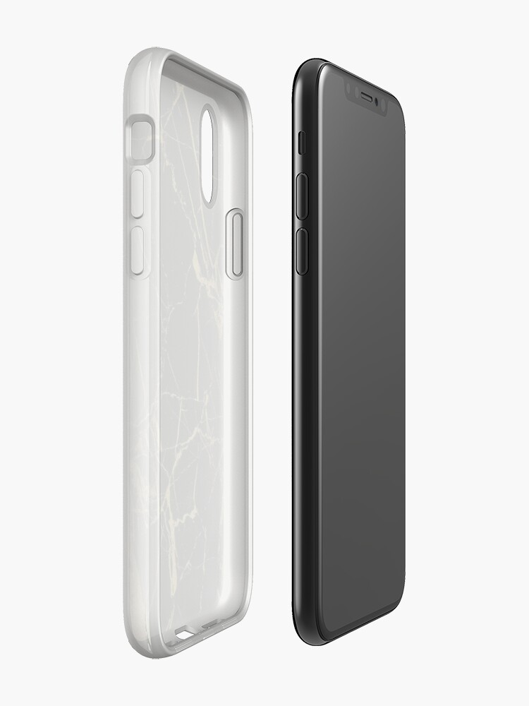 Vista alternativa de Funda y vinilo para iPhone oro y mármol negro
