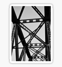 BW Railroad Bridge Beams Sticker