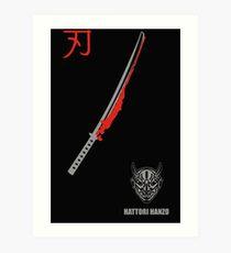 MENS HATTORI HANZO KILL BILL SAMURAI SWORDS Art Print