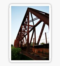Rail Road Bridge Richmond Texas Sticker