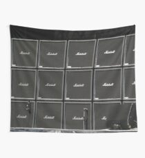 Wall of amplifiers amps Wall Tapestry