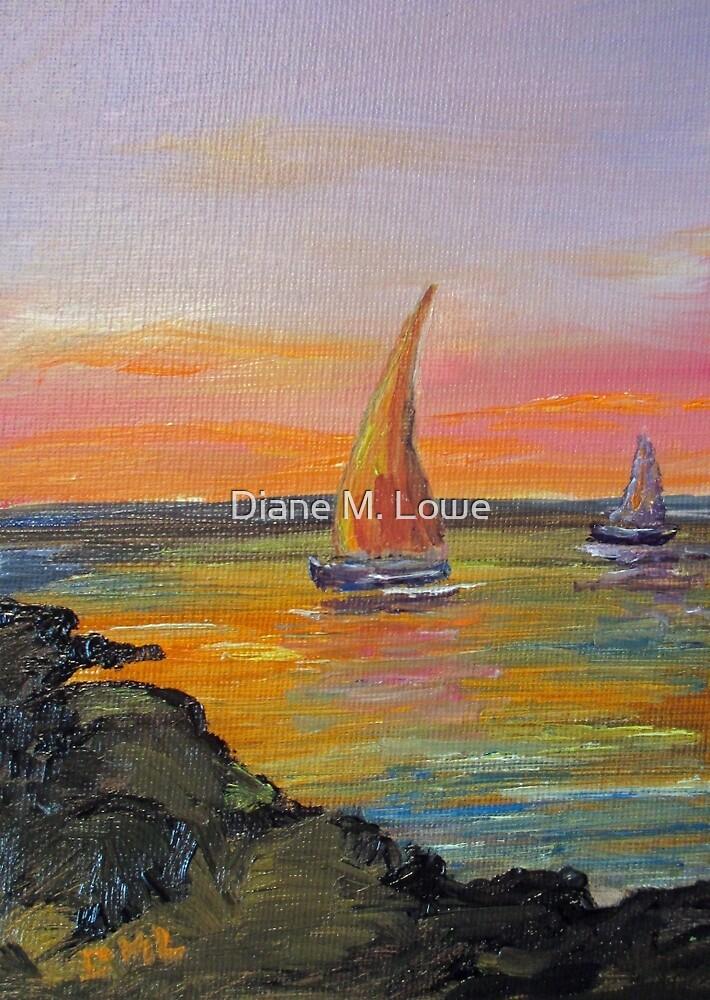 Pink Sailboat by Diane M. Lowe