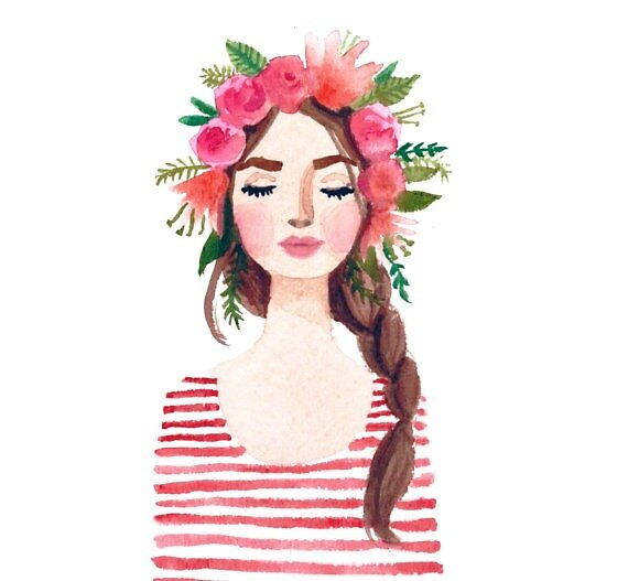 Flower Crown Girl by Sarahwasson13