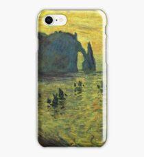 Claude Monet - The Cliffs At Etretat 1886 iPhone Case/Skin