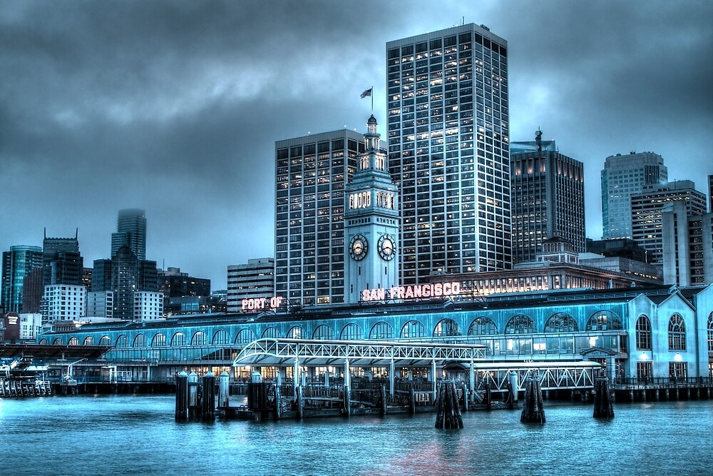 Port of San Francisco by ScHPhotography Digital Paintings and Design