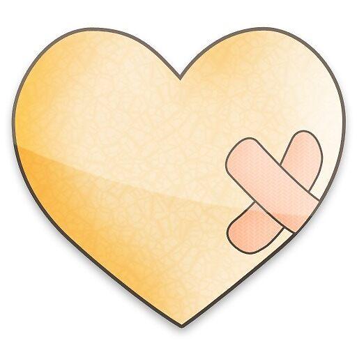 Heart Patch Sticker by raw95