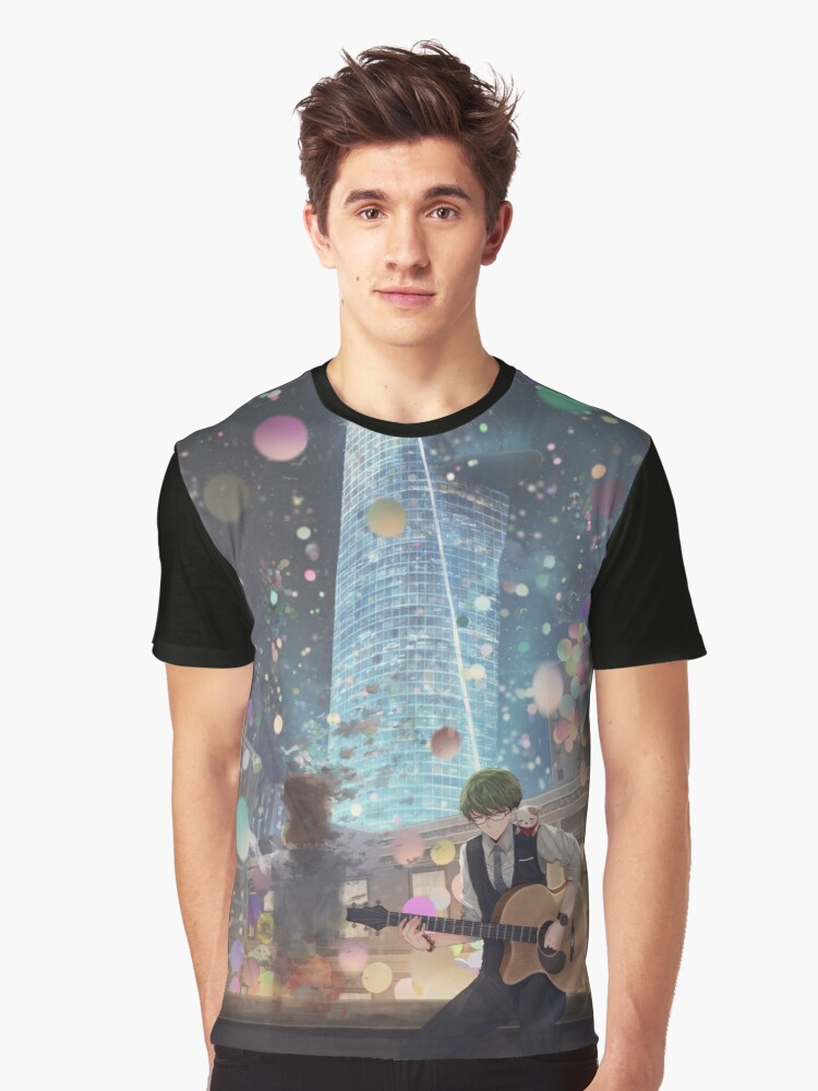 Alone In The City Of Night Graphic T-Shirt Front