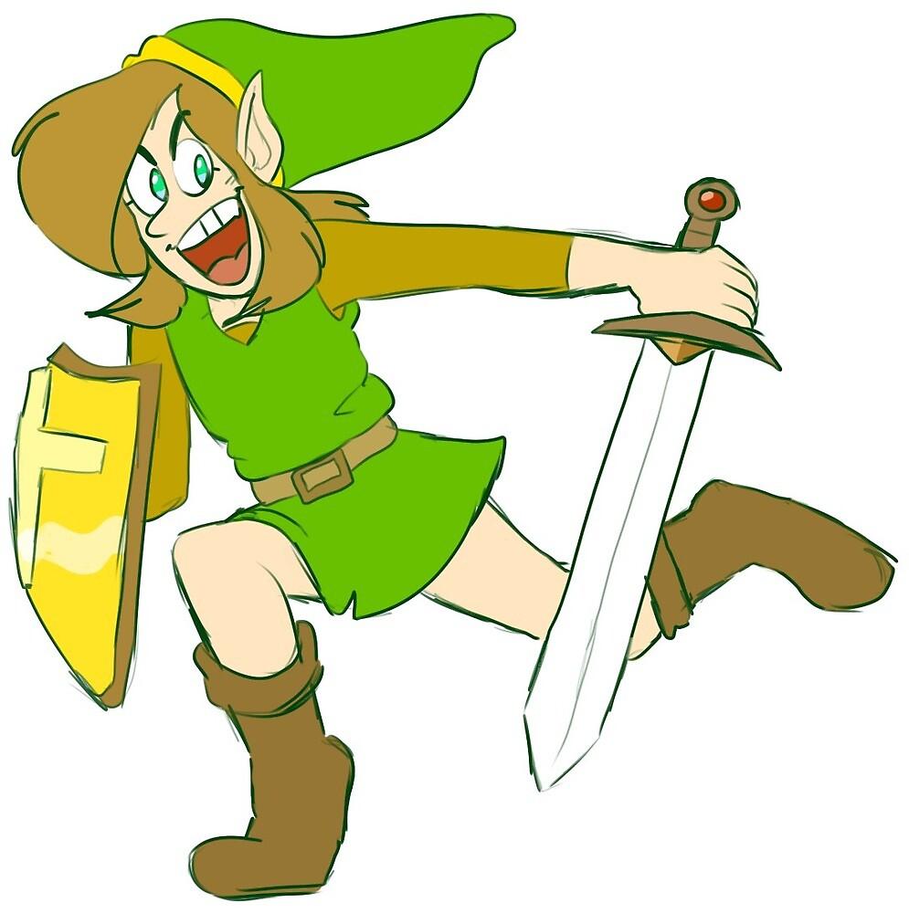 Zelda 2: The Adventure of Link by captain-brookee