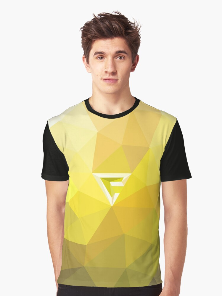 Quen, Witcher Sign Poly Art Graphic T-Shirt Front
