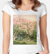Claude Monet - Lilac In The Sun 1873  Women's Fitted Scoop T-Shirt