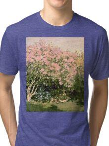 Claude Monet - Lilac In The Sun 1873  Tri-blend T-Shirt