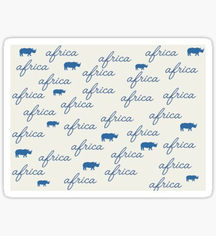 Lodge décor - Africa Sticker