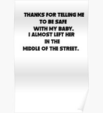 sarcastic dad Poster