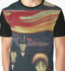 Edvard Munch - Anxiety Graphic T-Shirt