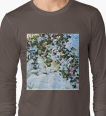 Claude Monet - Roses 1825  Long Sleeve T-Shirt