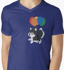Balloon Husky Men's V-Neck T-Shirt