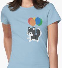 Balloon Husky Women's Fitted T-Shirt