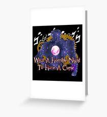 Curse of Za Warudo - Dios Revenge Greeting Card