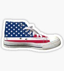 Hi Top Basketball Shoe United States Sticker
