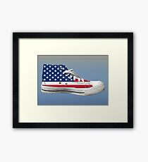 Hi Top Basketball Shoe United States Framed Print