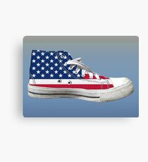 Hi Top Basketball Shoe United States Canvas Print