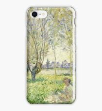 Claude Monet - Woman Seated Under The Willows 1880  iPhone Case/Skin