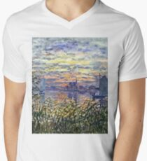 Claude Monet - Marine View With A Sunset 1875  T-Shirt