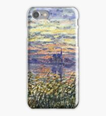 Claude Monet - Marine View With A Sunset 1875  iPhone Case/Skin