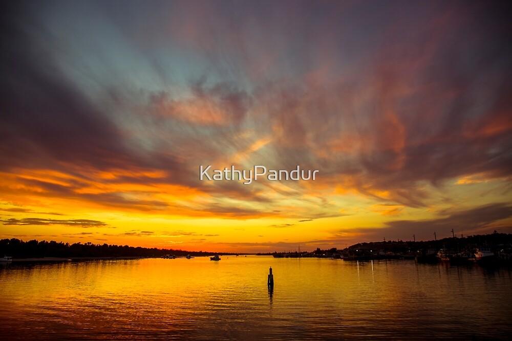 Sunset at Lakes Entrance by KathyPandur