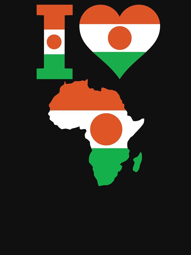 Niger flag Africa map t-shirt by mamatgaye