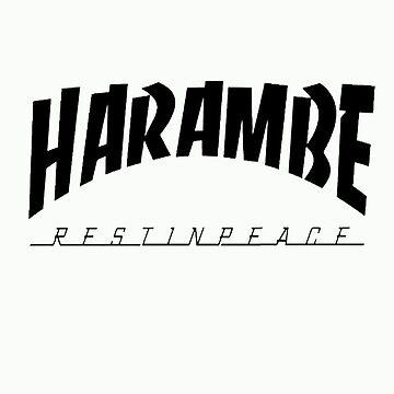 Rip Harambe Restin Peace by ifahhonimzy