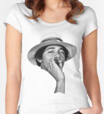 obama kush Women's Fitted Scoop T-Shirt