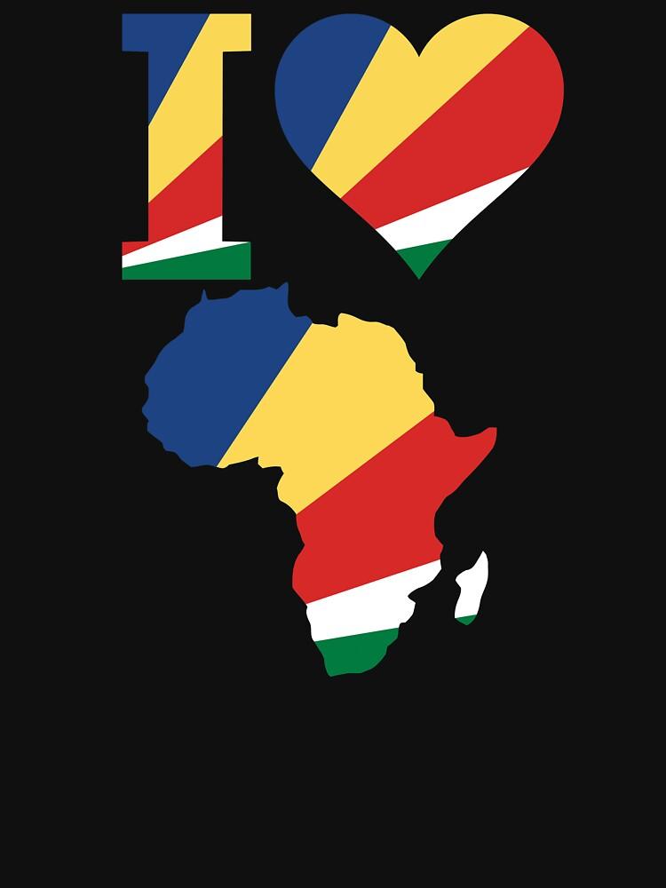 I love Seychelles Africa map t-shirt by mamatgaye