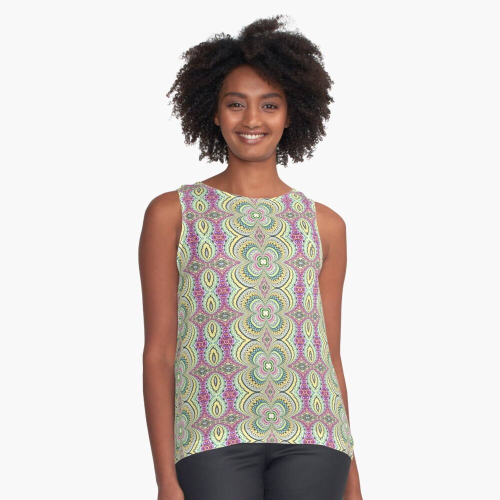 Four Leaf Clover Design - Abstract Contrast Tank Front