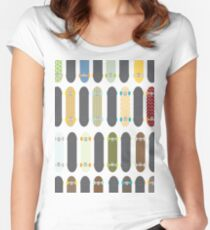Skateboards! Women's Fitted Scoop T-Shirt