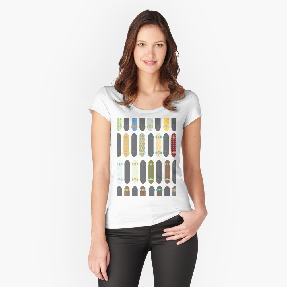 Skateboards! Women's Fitted Scoop T-Shirt Front
