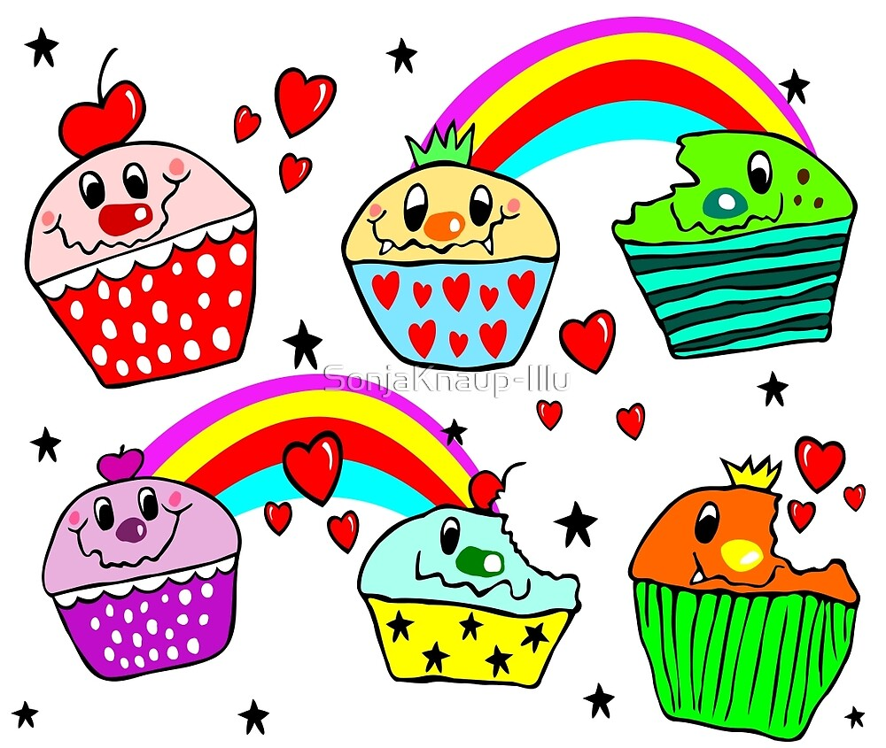 Emus cupcakes by SonjaKnaup-Illu
