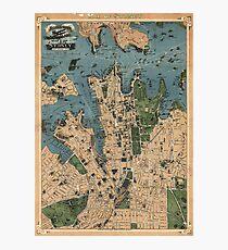 Robinson's Aeroplane map of Sydney, Australia - 1922 Photographic Print