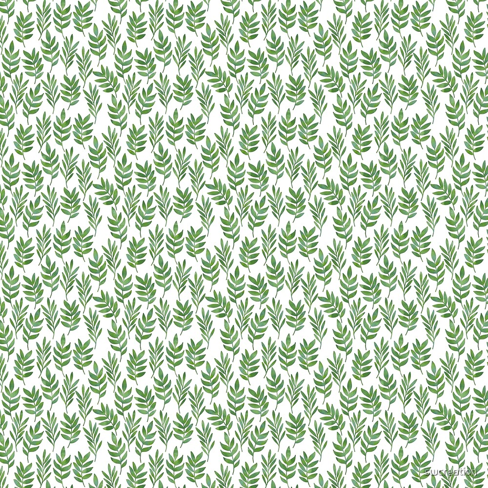 Green leaf pattern 1 by swcreation