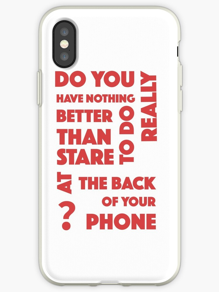 The First Phone Case To Question Your Actions by neviz