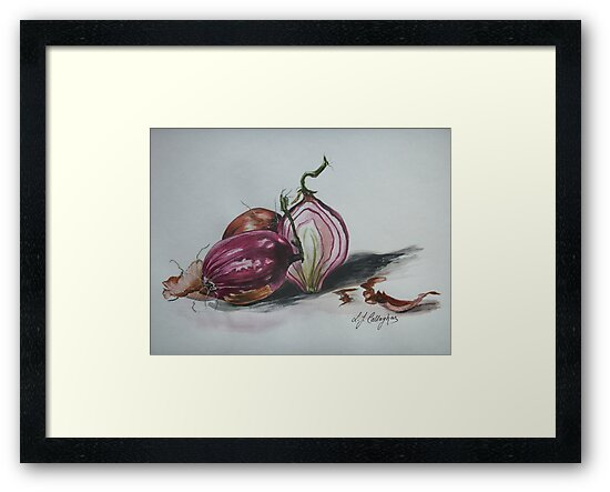Red Onions  by Linda Callaghan
