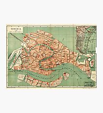 Map of Venice - 1886 Photographic Print